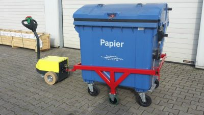 Papierbak - Multimover - dolly - garbage container - large waste bin - large waste container - garbage bin