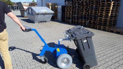 model blauw 2 - Multimover - Elektro trekker vuilnisbakken Multi-Mover M18SV