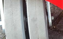 Lenkrolle mit doppeltem Vollgummireifen NM/SF Ø200 LE