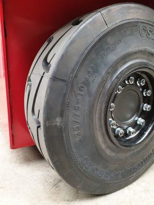 Vollgummi Reifen SC20 Continental, 23 Zoll 17 cm Breite