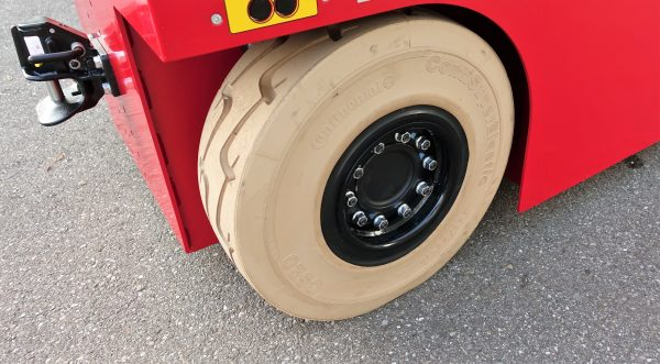 Vollgummi Reifen SC20 Continental, 23 Zoll 17 cm Breite Non Marking