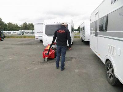 Multi-Mover XL35 - caravane rang - Tracteur électrique - tracteur pousseur électrique - chariot manutention electrique - Tireur pousseur électrique