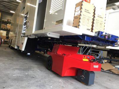 Remorque de camion - Tracteur électrique - tracteur pousseur électrique - chariot manutention electrique - Tireur pousseur électrique