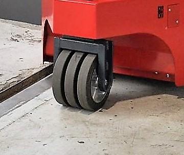 Rangierschlepper Multi-Mover XXL Nedtrain (2) Drillingsrollen - Elektroschlepper - Lenkrollen - Drillings-Rollen