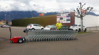 Multi Mover XL50 T - Einkaufswagen - Elektroschlepper - Rangierhilfe - Industrieschlepper - Elektro-Schlepper - Zughilfe - Manövrierhilfe - Rangierschlepper - Deichselschlepper - Anhängerrangierer - Schwerlastschlepper - Einkaufswagen rangieren - Trolley