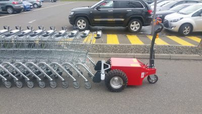 Multi-Mover XL50 Trolley Shopping venture coupler - electric tug - power tug - electric tugger - electric tow tugs - Motorized tug - pedestrian electric tug - pull - push